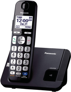 Panasonic Cordless KX TGE210B Phones for Seniors