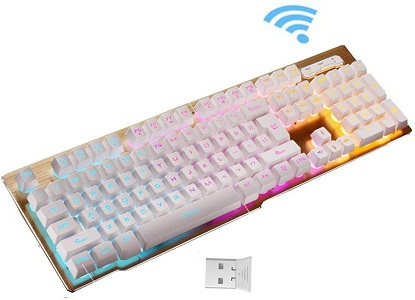 Backlit Keyboard,Wireless Fast-Charging Keyboard Suspended Keycap Illuminated Mechanical Feel Gaming Keyboard