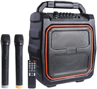 MAONO PK-08 PA System with Wireless Microphone Karaoke Machine, Portable Rechargeable 20W Bluetooth Party Speaker