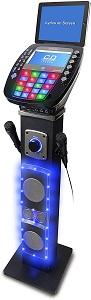 iKaraoke KS878-BT Bluetooth Pedestal CD&G Karaoke System, Black