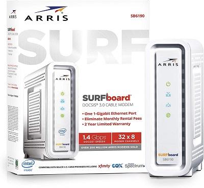 ARRIS SURFboard SB6190 - Spectrum Compatible Modem