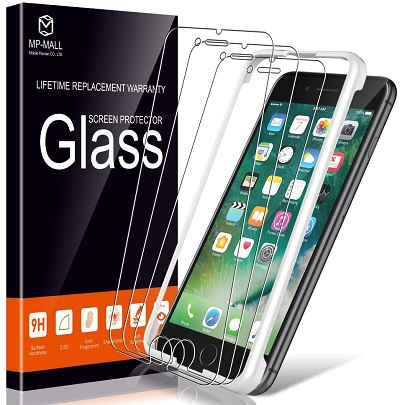 MP-MALL Screen Protector for iPhone 7 and iPhone 8