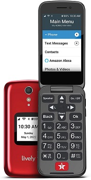 GreatCall Lively Flip Jitterbug Phone For Verizon