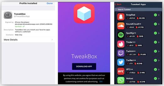 TweakApp For Get Spotify Premium account Free