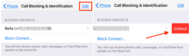 Unlock someone on your contact list on iphone-2