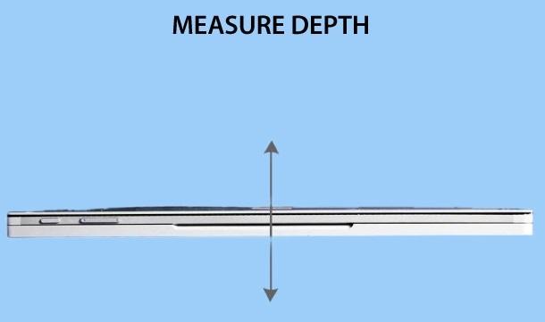 Laptop Depth Size Measuring