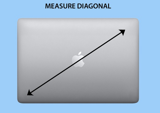 Laptop Diagonal Size Measuring