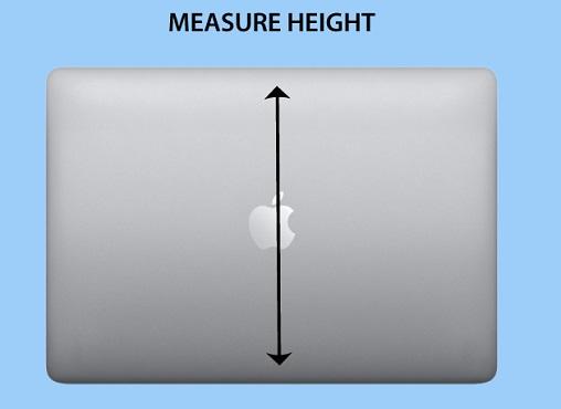 Laptop Height Size Measurement