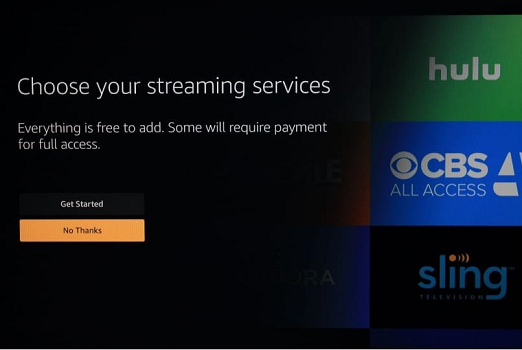 To start with FireStick, click Get Started