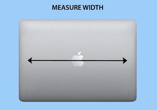 Laptop Width Size Measurement