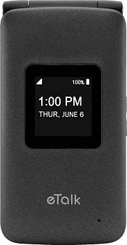 Takumi eTalk Prepaid Basic Flip Cell Phone with 4GB Memory